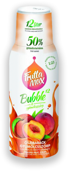 Fruttamax Bubble Őszibarack 500ml
